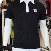 Bộ thể thao Uniqlo đen cổ trắng Kei Nishikori 2015