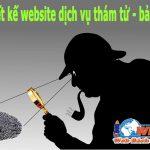 Thiết kế website dịch vụ thám tử - bảo vệ